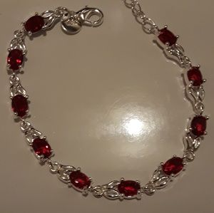 Ruby gemstone bracelet new